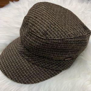 Vintage Stussy Tweed Plaid Newsboy Hat